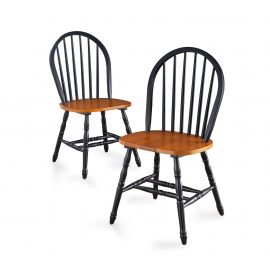 Autumn Lane Windsor Solid Wood Chairs, Set of 2