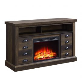 Granary Modern Farmhouse Fireplace Console for 65